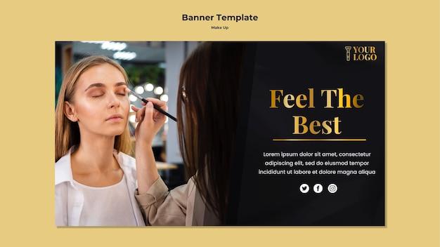 Make-up sjabloonontwerp voor spandoek