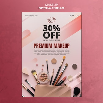 Make-up speciale aanbieding poster sjabloon