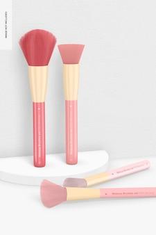 Make-upborstels set mockup, staand en dropped