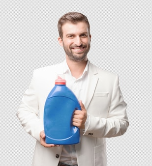Man die wasmiddel voorstelt