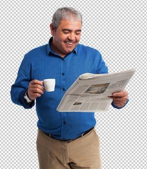 Man krant lezen