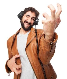 Man spelen een lucht guita