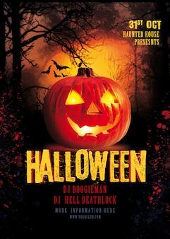 Manifesto festa di halloween