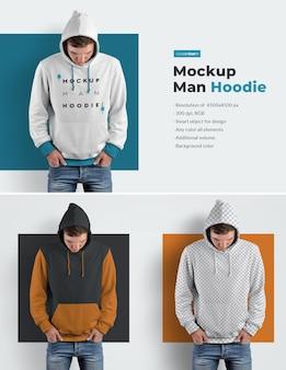 Mannen hoodiemodellen