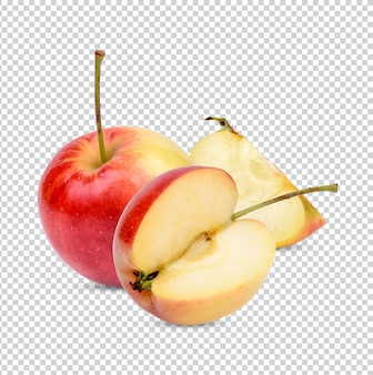 Manzana fresca aislada premium psd