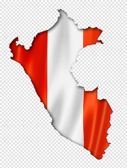 Mapa de la bandera peruana