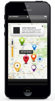 Mappa località ui applicazioni mobili kit