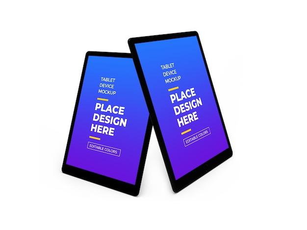 Maqueta 3d de dispositivo de tableta