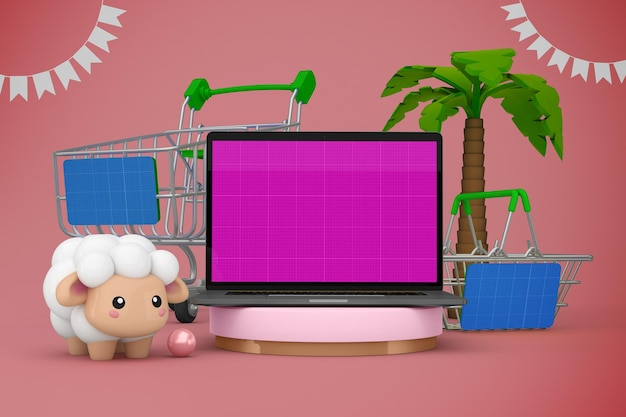 Maqueta de adha shopping