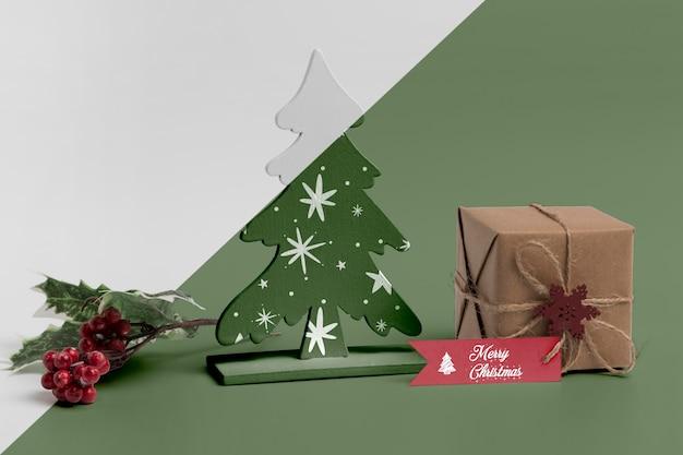 Maqueta de adornos navideños