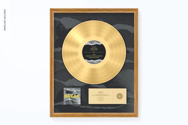 Maqueta de álbum dorado