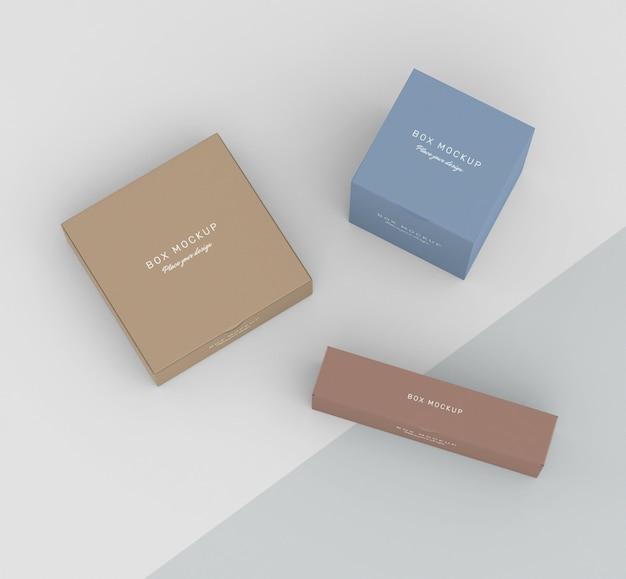 Maqueta para almacenamiento de cajas de cartón