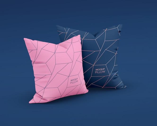 Maqueta de almohadas cuadradas
