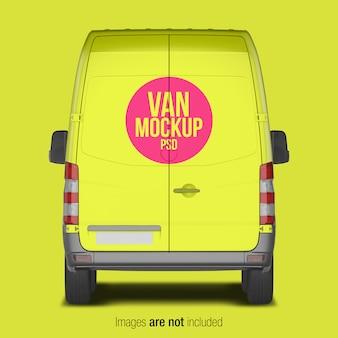 Maqueta amarilla de la furgoneta de reparto