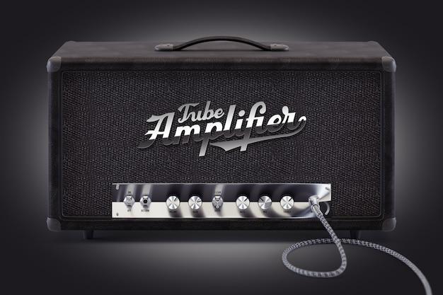 Maqueta de un amplificador de sonido clásico