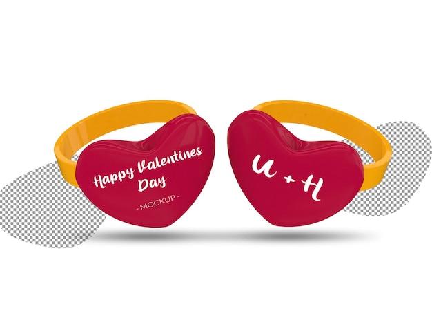 Maqueta de anillos de feliz día de san valentín