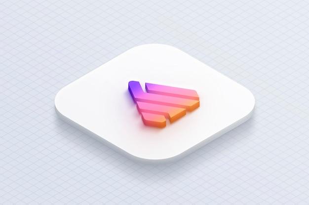 Maqueta de la aplicación 3d logo icon