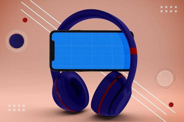 Maqueta de la aplicación de música móvil abstracta