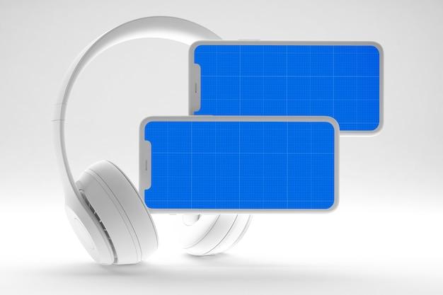 Maqueta de aplicación de música móvil limpia