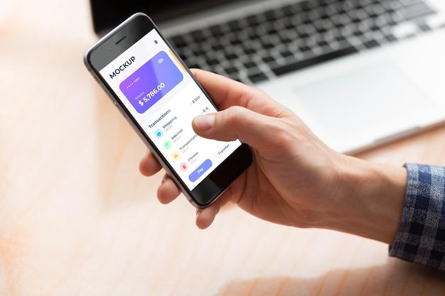 Maqueta de la aplicación de pago móvil