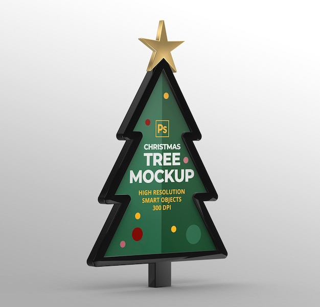 Maqueta de árbol de navidad para presentaciones de marca y publicidad.