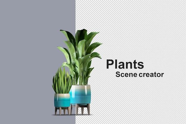 Maqueta de árbol de plantas renderizado 3d aislado prestado