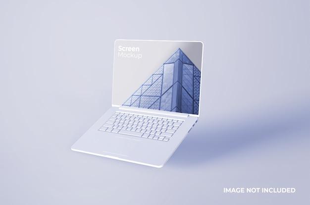 Maqueta de arcilla blanca macbook pro