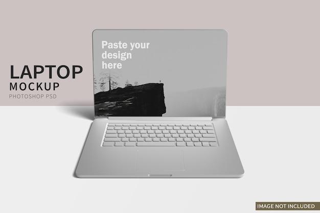 Maqueta de arcilla minimalista para laptop pro