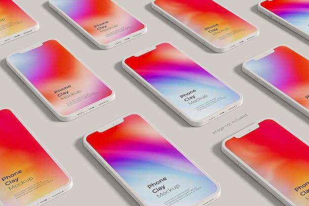Maqueta de arcilla para smartphone