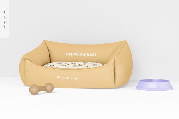 Maqueta de asientos de almohada para mascotas