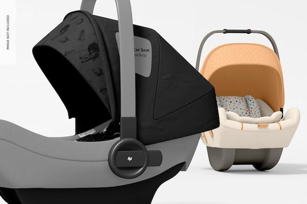 Maqueta de asientos de coche para bebé, primer plano