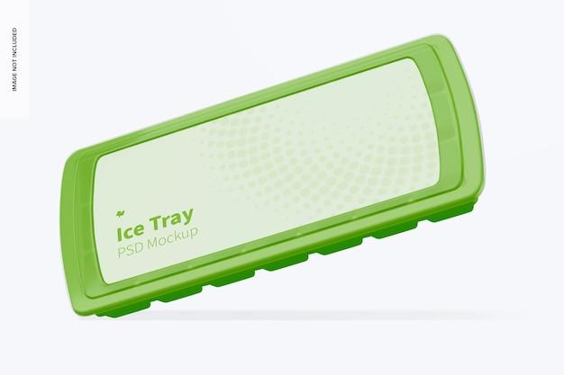 Maqueta de bandeja de hielo, inclinada