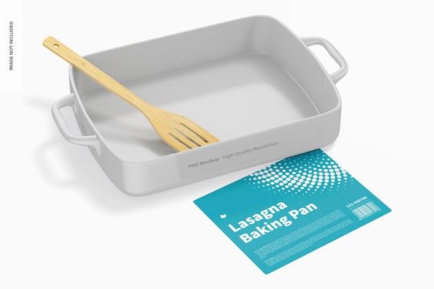 Maqueta de bandeja para hornear de lasaña