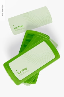 Maqueta de bandejas de hielo, vista superior