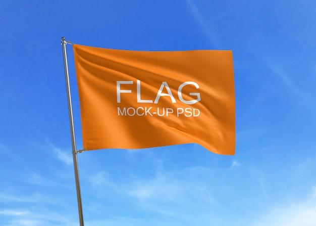 Maqueta de bandera ondeando