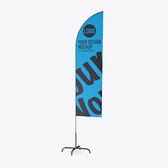 Maqueta de banderola en espacio en blanco
