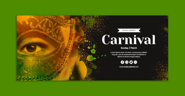 Maqueta de banner de carnaval