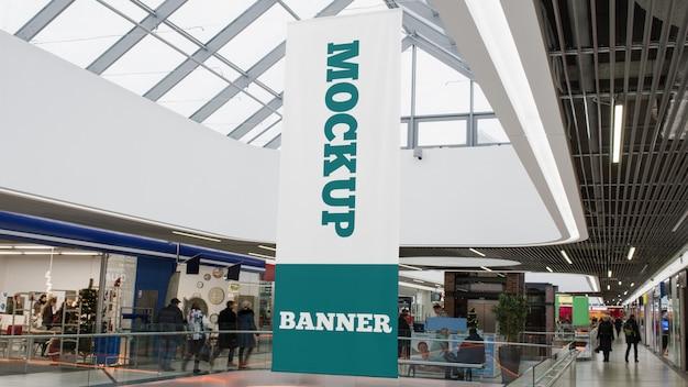 Maqueta de banner de centro comercial