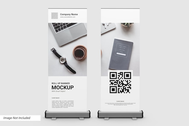 Maqueta de banner enrollable empresarial
