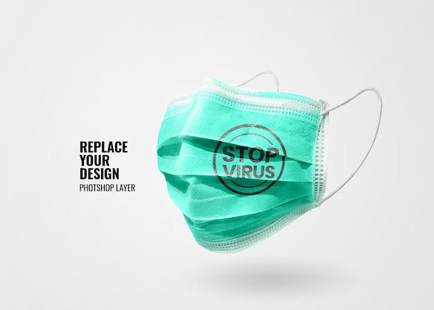 Maqueta de banner de máscara médica