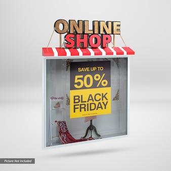 Maqueta de banner de tienda online