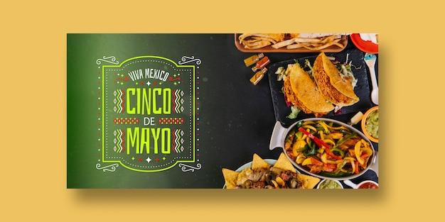 Maqueta de banners de comida con concepto de mexico