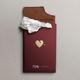 Maqueta de barra de chocolate