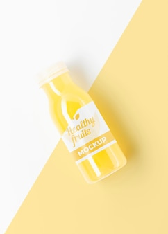 Maqueta de batido con fruta de limón saludable
