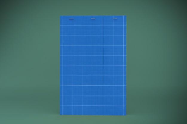 Maqueta de bloc de notas