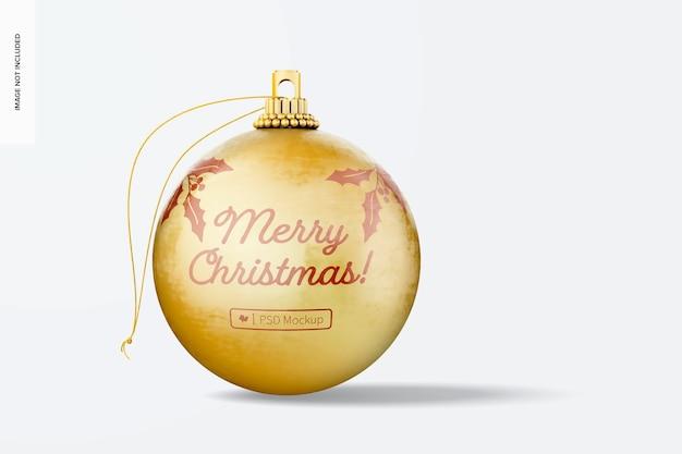 Maqueta de bola de navidad apenada