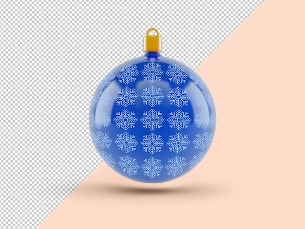 Maqueta de bola de navidad azul