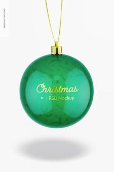 Maqueta de bola de navidad brillante, colgante