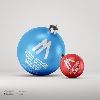 Maqueta de bolas de navidad aislado