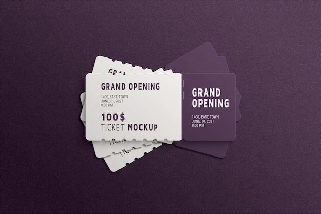 Maqueta de boleto simple y minimalista.